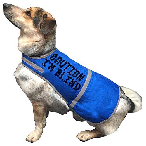 """Hunde-Signalweste mit englischsprachiger Aufschrift """"Caution I'm Blind"""" (Deutsch: Achtung, ich bin blind), gute Sichtbarkeit, rot"""