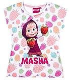 Masha and The Bear Ragazze Maglietta manica corta - bianco - 128