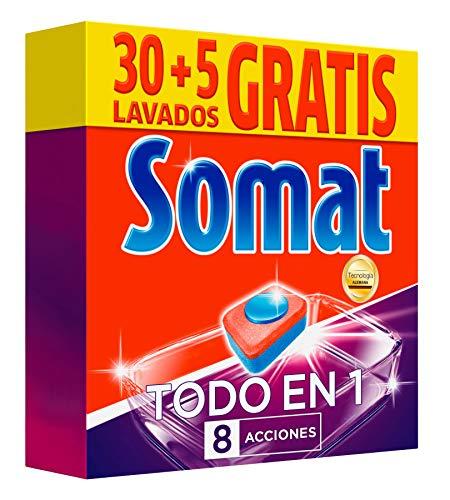 Somat Todo en 1 Pastillas Lavavajillas - 35 Dosis