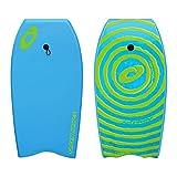 Osprey Enfants/Adultes Spirale Bodyboard avec Leash, Tableau XPE avec Croissant de Queue-104,1cm, Mixte, XPE Spiral, Bleu