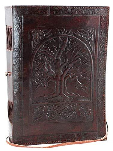 Gran árbol de la vida cuero en blanco libro