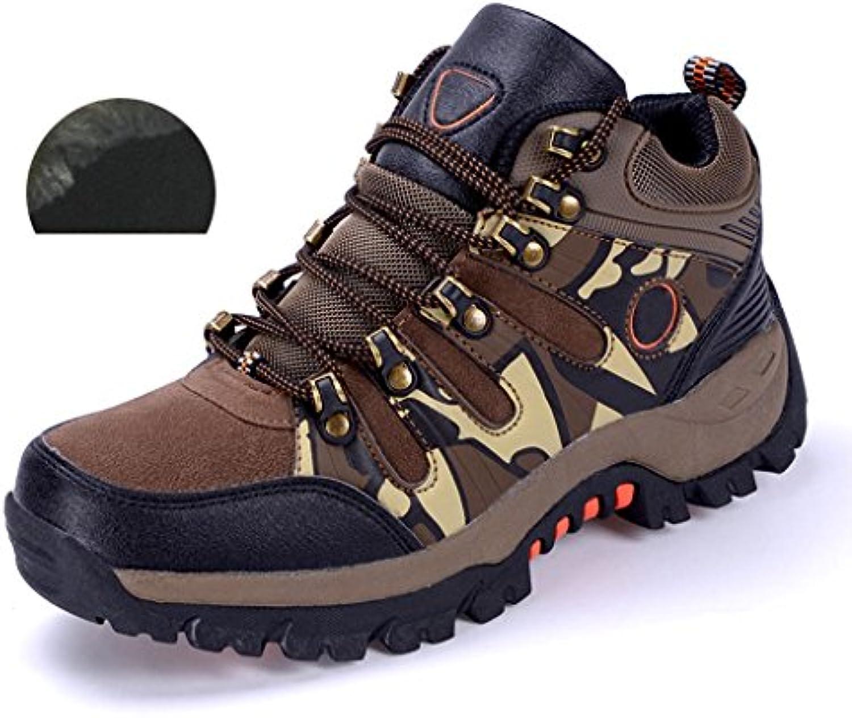 Herbst Winter Herren Wanderschuhe Camouflage Outdoor Rutschfeste Polsterung Schuhe Plus Pluumlsch Halten Warme Baumwolle