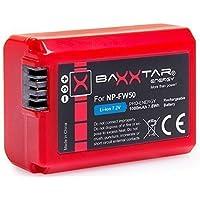 """BAXXTAR PRO-ENERGY Batería Calidad para Sony NP-FW50 (1080mAh real) con la información de la viruta - sistema de batería inteligente - 100% compatible """"última generación"""""""