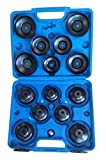 KFZTEILESCHNELLVERSAND24 - Set di 15 pezzi di tappi per filtro dell'olio, per auto