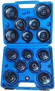 Kfzteileschnellversand24 15 Tlg Teilig Universal Ölfilter Ölfilterkappen Ölfilterschlüssel Werkzeug Baumarkt