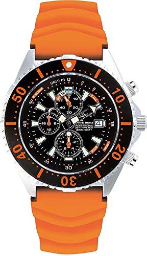 Chris Benz Uhr Taucheruhr Depthmeter Chronograph CB-C300-O-KBG
