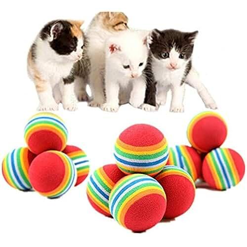 regalos tus mascotas mas kawaii 20Pcs Bolas para Perros, Mignon Juguete Pelotas Coloridas de Espuma del Arco Iris Actividad Juguetes Divertidos Herramienta de Formación para Animales Mascota Perro Gato Cachorro
