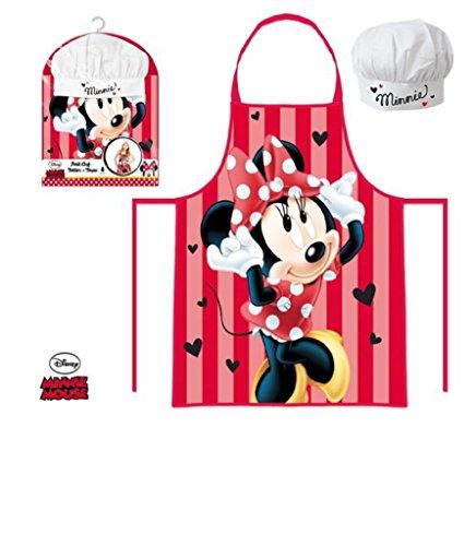 Grembiule Cucina Minnie.Disney Minnie Set Da Cucina Per Bambini Grembiule E Cappello Cuoco De 3 A 8 Anni