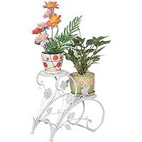 Espositore per bonsai, piante, casa, giardino, in alluminio, colore: bianco