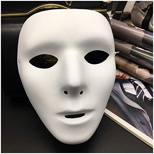 YaPin Jabbawockeez Maskentänzer Dance Performance Vollgesichtsmaske White Street Dance Maske für Männer und Frauen (Color : Ladies)