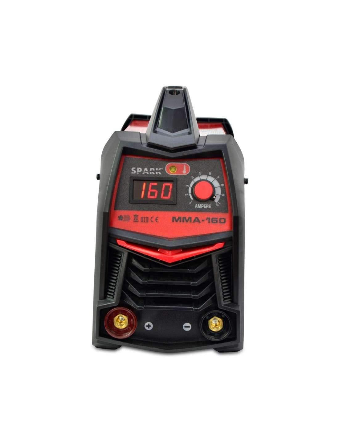 Soldador MMA 160A / 220V Dc, Pantalla Digital, Tamaño Máximo De Electrodo