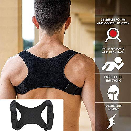 Koisy Haltungs-Korrektor-Bruch-Unterstützung Zurück-Schulter-Korrektur-Klammer-Gurt-Bügel - Haltung Unterstützung Korrektor