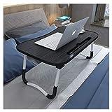 Klappbetttisch, Tabletttisch, tragbarer Stehpult, mit faltbaren Beinen, faltbarer Sofa-Frühstückstisch, Notebook-Ständerlesehalter für Couch-Boden,B