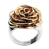 Spikes 316L Golden Rose-Blumen-Ring. Wunderschön in einem roten Geschenk-Box und Organzabeutel vorgestellt.