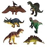 JZK 6 Conjunto Surtido Dinosaurio de Juguete Figuras Triceratops...