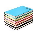 Zhi Jin A6Dick Classic Leder liniert Notizbuch Tagebuch Hardcover Notizblock Pocket Diary Portfolio für Business Bür