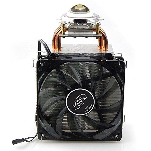 Tesfish 4 Kupferrohr Kühlkörper mit Fan + 44mm Objektiv für 20W-150W hohe Leistung führte Chip Licht