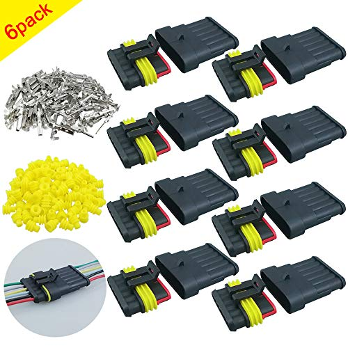 QitinDasen 6 Kit Profesional 6 Pin Coche Impermeable