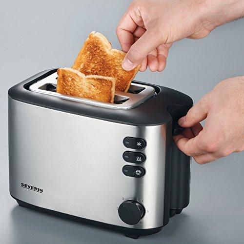 Severin AT 2514 Automatik-Toaster (850 Watt), edelstahl - 4