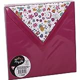 Clairefontaine 53800C - Sobre de felicitación (paquete de 10, cuadrado), color morado