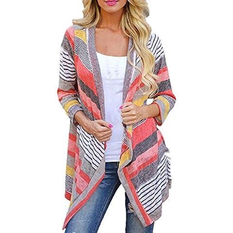 Sannysis® Mujeres Irregular Stripe Cardigan; Chal kimono (S)