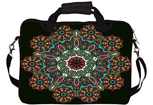 Laptoptasche mit indischem Muster, Rot, Zebramuster, 25,4 cm (10 Zoll)