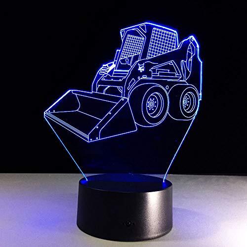 WangZJ 3d Nachtlichter für Kinder Kinder Nacht Lampe / 3d optische Täuschung Tischlampe / 3d Illusion Led Lampe/Bulldozer Ausgraben