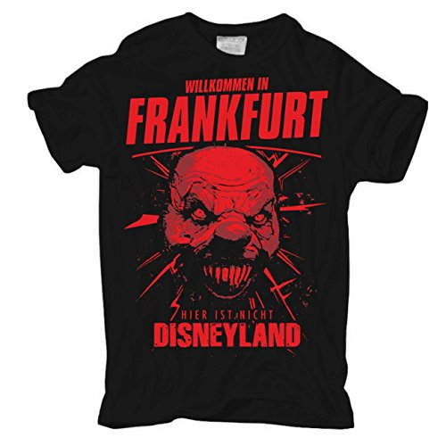 Männer und Herren T-Shirt Frankfurt - Hier ist nicht... Schwarz