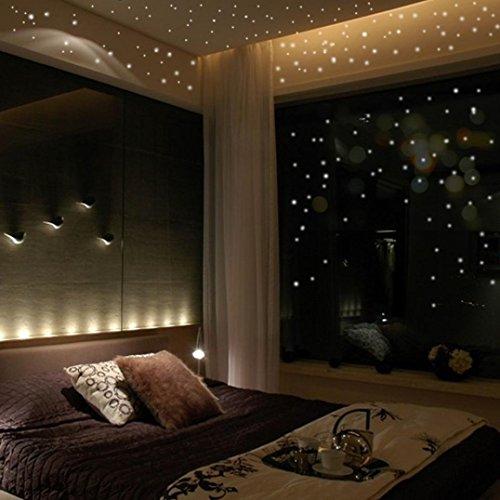 TWIFER Glühen in den dunklen Stern-Wand-Aufkleber 407Pcs runde Punkt leuchtende Kinder Bedroom Dekor (Glühen In Den Dunklen Sternen)