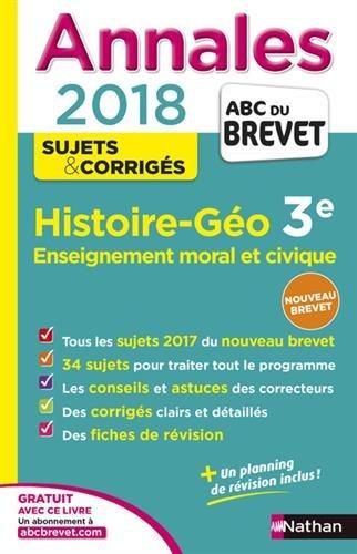 Annales ABC du Brevet Histoire-Géographie-EMC 2018