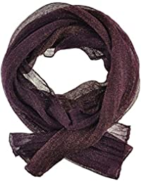 Women's / Ladies' Fashion Glitter Scarf With Six Colours (Purple)