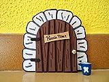 Puerta mágica del Ratoncito Pérez. Incluye escalera y cubito para diente.