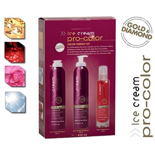 Kit perfectionnant de la couleur cosmetique avec Or,Diamant et Rubis Ice cream pro-color