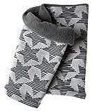 Wollhuhn Warmes Halstuch, Schal, grau mit Sternen Jo, Innenseite Fleece, für Jungen und Mädchen 20151116