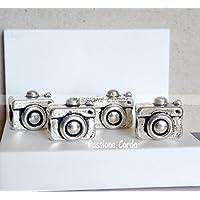mod. Pandora Ciondoli MACCHINA FOTOGRAFICA RETRò 4 pz. in metallo per bracciali / collane/ portachiavi nichel free …
