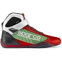 Sparco 00125746RSVD Botines para Karting, Rojo/Verde, 46