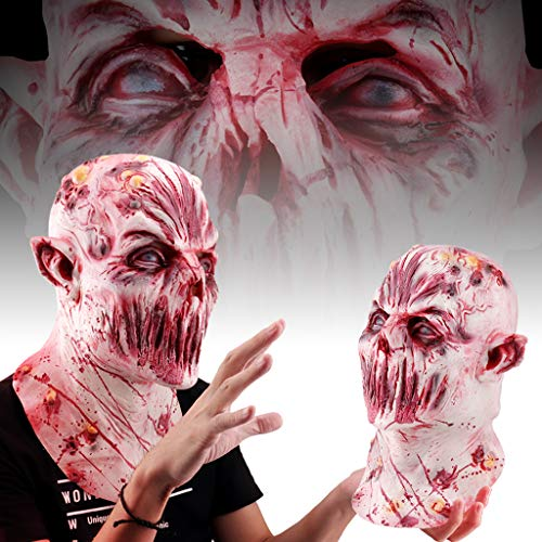 JIBO Vollgesichts Halloween Maske Scary Zombie Ghul Maske Halloween Party Dekoration Latex Maske Herren Frauen Cosplay Kostüm ()