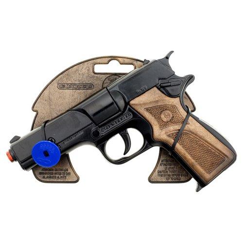 Gonher - Pistola metal de policía, 8 tiros, 17x12 cm