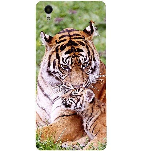 Casotec Tiger Design 3D Hard Back Case Cover for Vivo Y51L