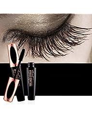 Efforty Mascara Cream 4D Wimpern mit Fiber Sets Wasserdicht Mascara Eye Black Wimpernverlängerung verrückt lange Stil warmes Wasser Waschbar Mascara