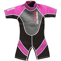 4e4176977c Nalu Wavewear Childrens Girls PINK Shortie Wetsuit 34