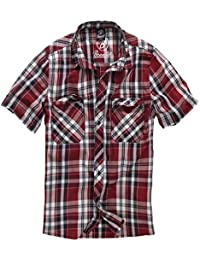 Brandit Roadstar Hemd Rot/Schwarz/Weiß