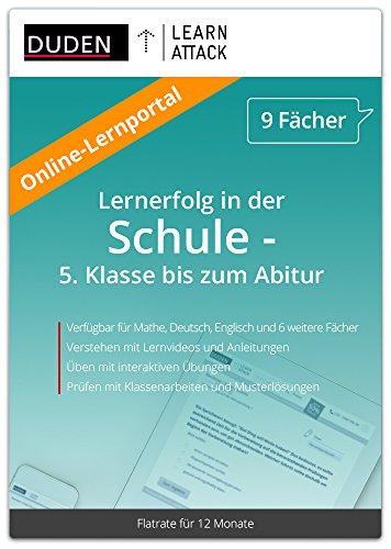 Duden Learnattack - Lernportal für Mathe, Deutsch, Englisch und 6 weiteren Fächern - 5. Klasse bis...