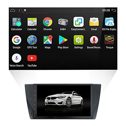 YUNTX Android 7.1 Autoradio pour BMW E90 Saloon/Touring/Coupe/Cabriolet (2005-2012) | GPS 2 Din | Canbus | 9 pouces | 2GB ROM | 16GB RAM | DVD | SD | USB | 3G/4G | WLAN | Bluetooth | MirrorLink | RDS