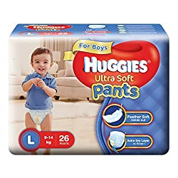 Huggies Ultra Soft Pants Large Size Premium Diapers for Boys (26 Counts)