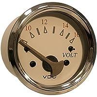VDO Allentare White/Grey Voltmeter - 8-16V