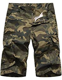 05c13309ed AYG Bermuda Shorts Militär Kurze Hosen Herren Sommer Cargo Camouflage Shorts