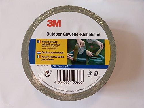 3M Outdoor Gewebe-Klebeband Oliv-Grün