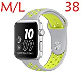Für Apple Watch Armband Nike+ 38mm/42mm Replacement, Kobwa Silikon Sport IWatch Band...