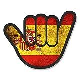 2x Spanien Spanische Flagge Shocker Vinyl Aufkleber Aufkleber Laptop Reise Gepäck Auto Ipad Schild Fun # 6175 - 10cm/100mm Wide
